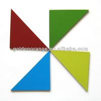 Both Side Colour Triangle Tangram Magnet Puzzle For Sale Promotion