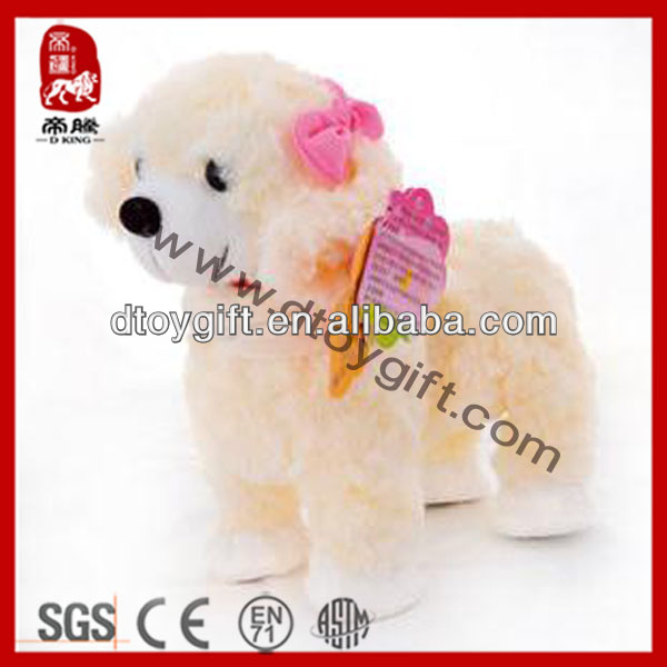 Sedex BSCI factory stuffed electric toy plush dog moving toy dog