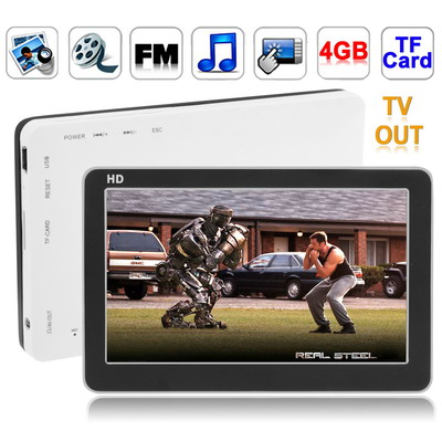 4.3 inch Touch Screen 4GB MP5 Player, Support FM Radio, E-Book, Games, TV Out (Black)