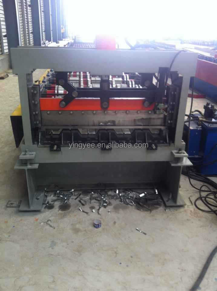 auto uncoiler+floor decking roll forming machine+auto stacker