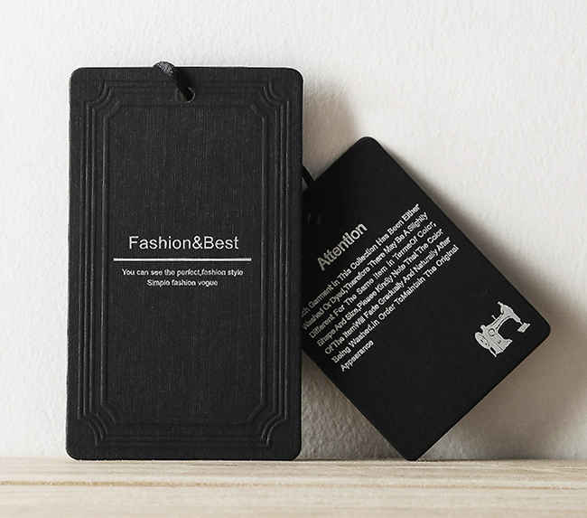 Wholesale Customized Luxury Recycled Cheap Clothing Paper Logo Label Swing Tags