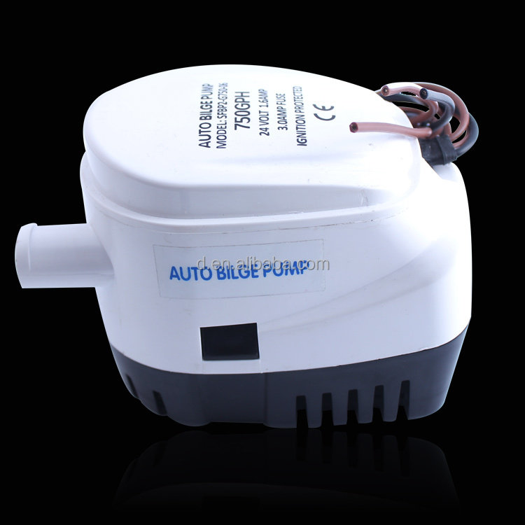 AUTOMATIC BILGE PUMP 12V ~ 750GPH submersible with built in FLOAT SWITCH for Boats, Yachts & Camping