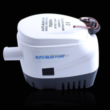 BILGE PUMP 12V 750GPH submersible with built in FLAT SWITCH for Boats, Yachts & Camping