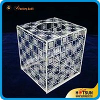 30cm transparent Cube box Wedding celebrations acrylic transparent lottery box acrylic raffle box