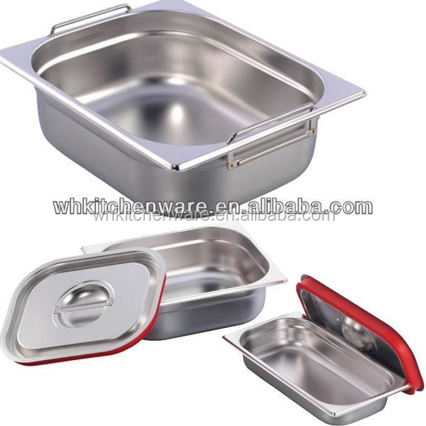 LFGB & NSF Approve Heavy Duty Stainless Steel gn pan wall mounted kitchen table