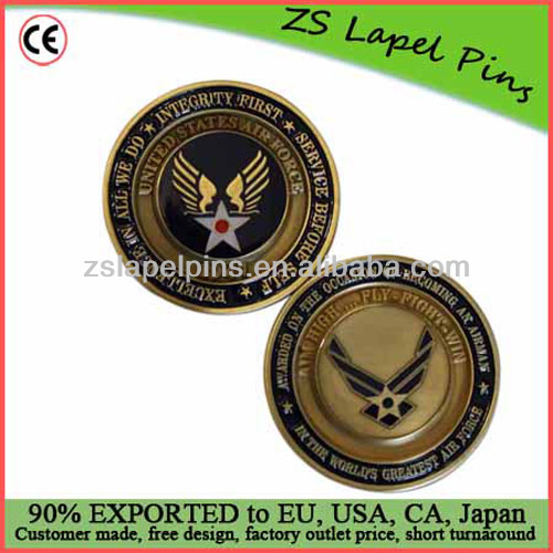 custom copper coins for US airforce