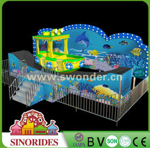 2015 Hot Sales Products New Design Amusement Park Rides Rocking Tug Small Tug Boat for Family Members