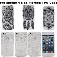 New Arrival Custom Flower TPU Case For iPhone 5 Ultra Thin Gel Soft Clear Case Transparent Back Cover For 4S 5S
