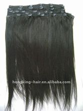 clip-in yaki human hair extensions