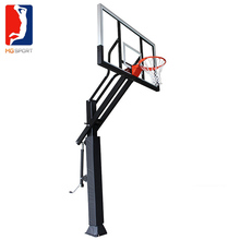 Adjustable height inground basketball hoop for sports equipment and sporting goods in china basketballs