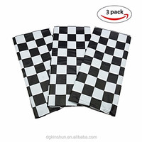 Black & White checkered plastic pe table cloth /table cover for hot selling in European