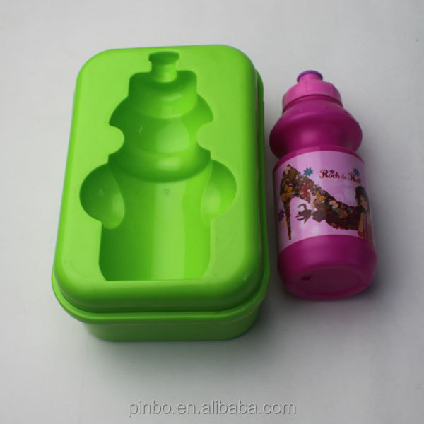 Custom Plastic Kids School Lunch Box With Bottle