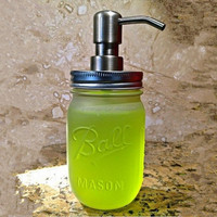 frosted ball mason jar soap lotion liquid dispenser