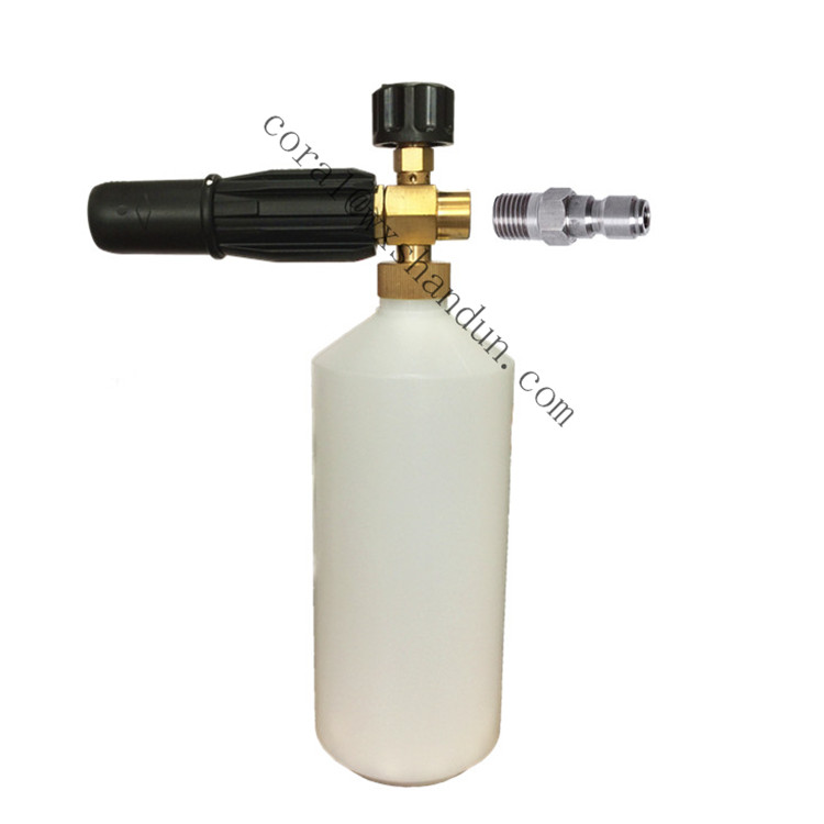 High pressure washer car foamer brass <strong>nozzle</strong> 1/4 quick <strong>connector</strong> snow foam lance 1L