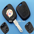 Ledy remote key shell fob uxcell 2 Button Remote Key Case Shell Fob for Peugeot 107 207 307 407 106 206 306 406