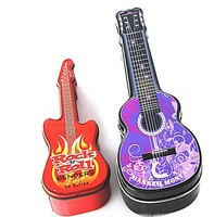 2015 New Year customized promotional guitar shape metal tin box