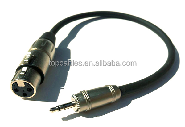 Audio cable custom designed 3pin XLR female to TRS