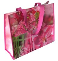 Promotional Cheap Customized PP Woven Folding Shopping and Packaging and Traveling tote Bag