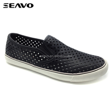 SEAVO SS17 new modal black punching PU cool men breathable flexible sneaker shoes