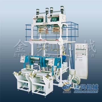 HDPE mLLDPE LLDPE LDPE double head extruder film machine