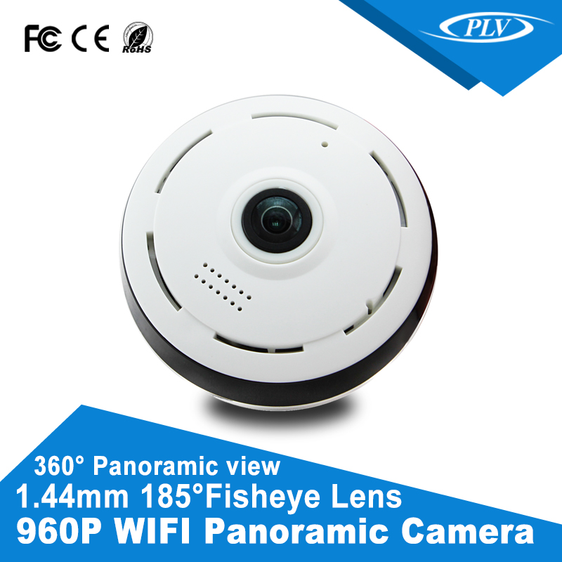960P <strong>1</strong>.3MP IR night vision panoramic fisheye wifi ip camera with built-in speakers and microphones