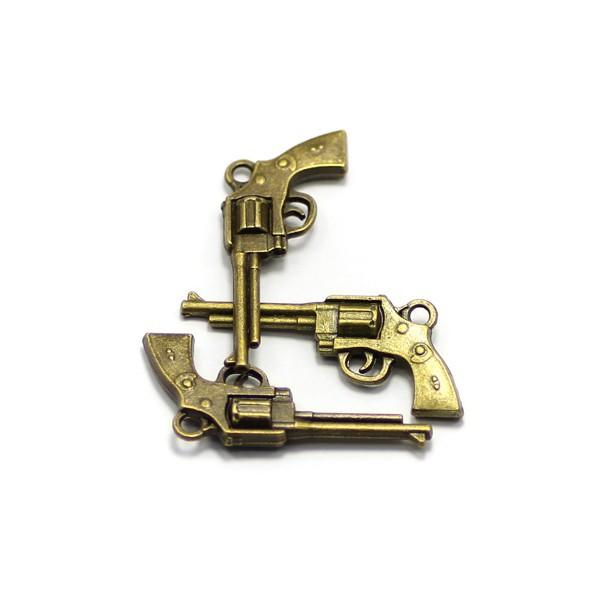 fiveshooter small gun shape charms