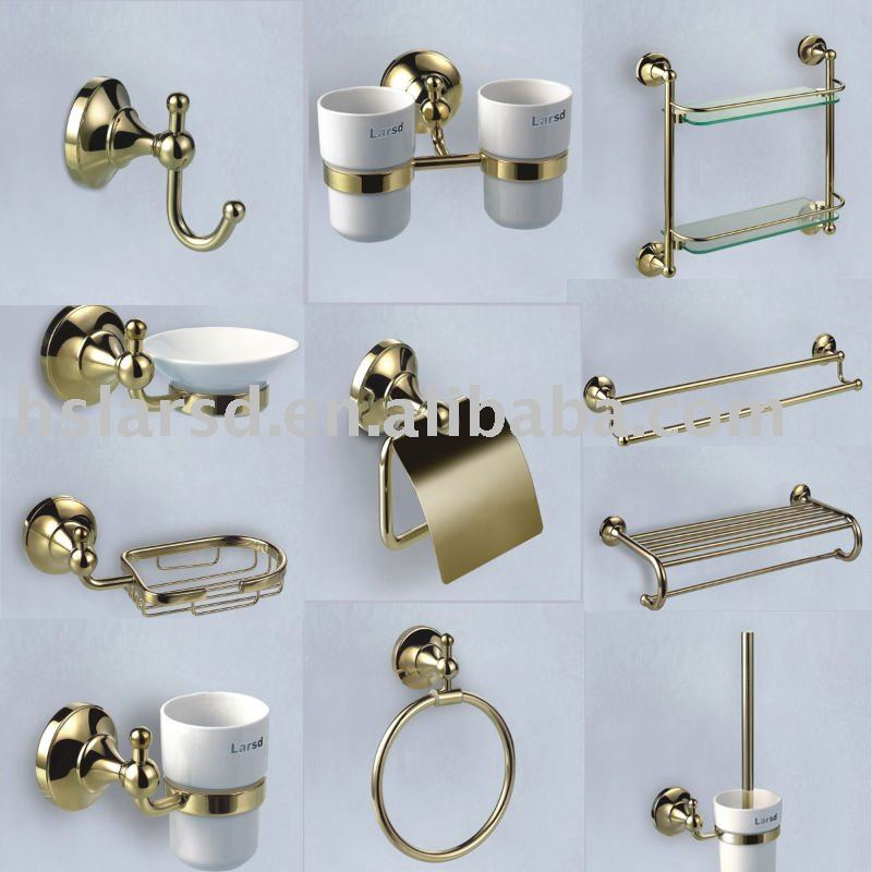 Bathroom Accessories Dubai bathroom accessories set/gold palted,chrome plated brass bathroom