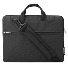 POFOKO Seattle 15.4 inch Portable One Shoulder Quality Fabric Waterproof Laptop Bag for Laptop Notebook(Black)
