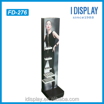 Custom cardboard Advertising Standee make up store display stand for eye shadow/blusher