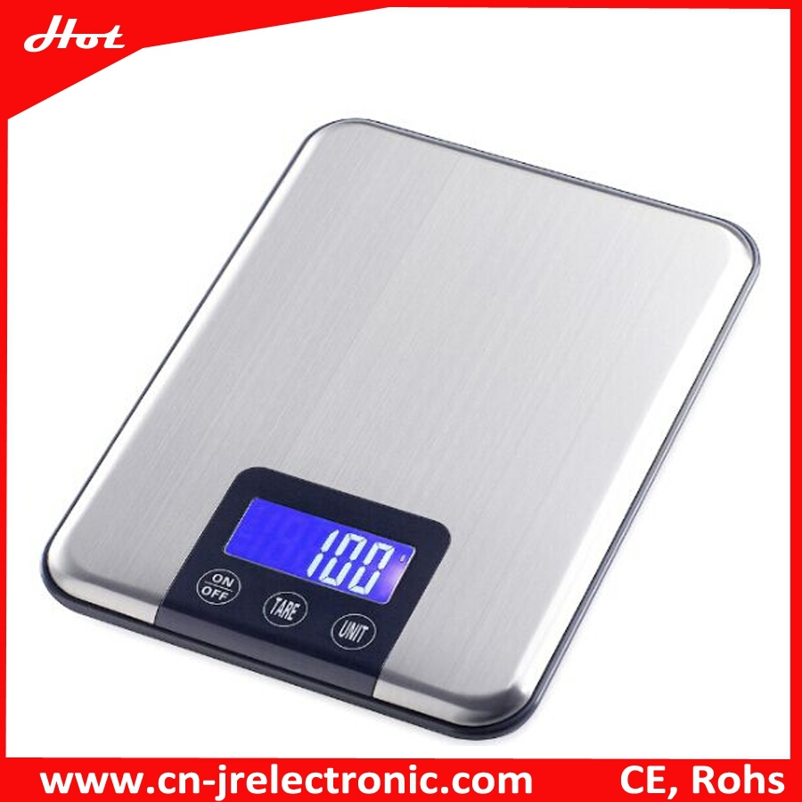 Stainless steel platform 2015 Promotion Digital Food Scale Electronic Kitchen Gadget For Food Weighing with hanger