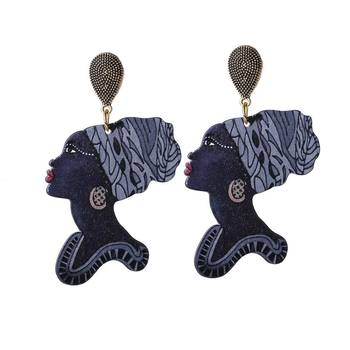 fashion custom shape wooden earrings jewelry wholesale african wood earrings women
