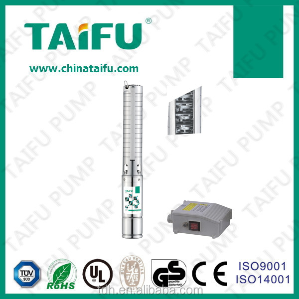TAIFU brand 230V plastic/s.s. impeller 4-inch deep well vertical mixed flow pump
