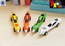 muticolor Movement Car Style Ballpoint pen Plastic Rolling Wheels ballpen