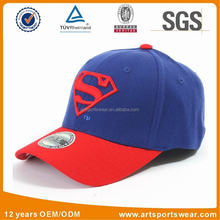 2 tone kids superman embroidered cotton baseball cap
