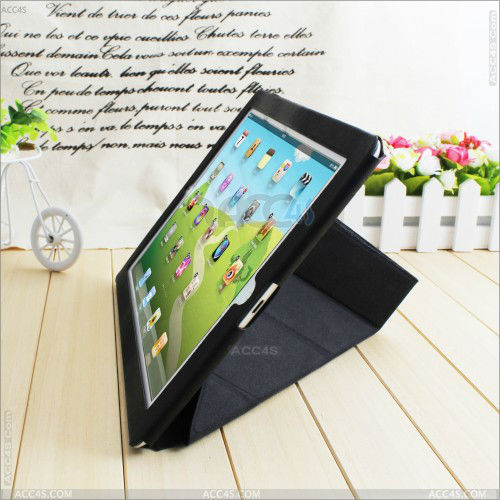 PU Fashion protective Case with stand for the New iPad/iPad3 P-iPAD234CASE079