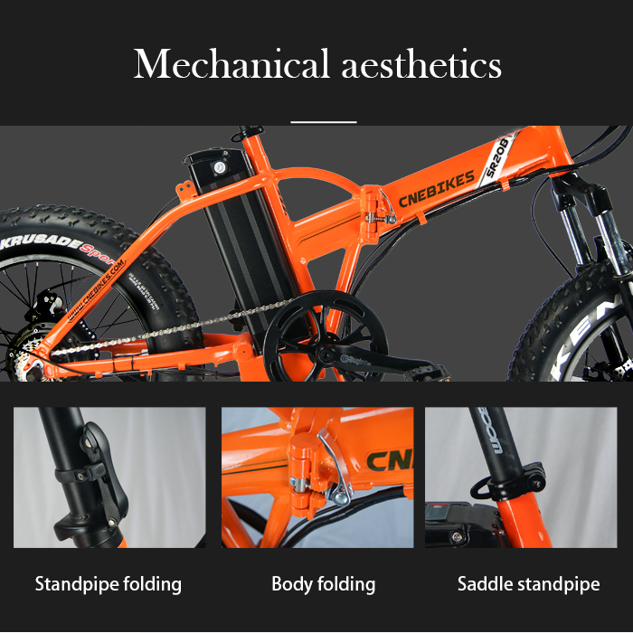 Factory directly sell folding 20inch electric fat tire bike with lithium battery power