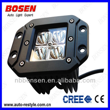 16W CREE flush offroad LED work light for tractor, forklift, off-road, ATV, excavator, heavy duty equipment etc.