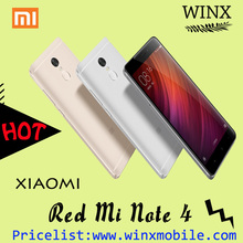 Best price redmi note 4 64GB ROM 3GB RAM Android 6.0 mi mobile phone black/gold/white 4100mAh