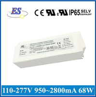 48W 1200mA 42V AC DC Constant Current/ Voltage Dimmable LED Driver with 1-10V Dimmer