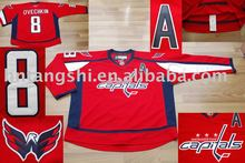 WASHINGTON CAPITALS RED,8# OVECHKIN top quality /new style/ice hockey jersey