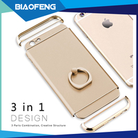 2016 trending products pc hard case with electroplating workmanship and finger ring case cover for iphone6