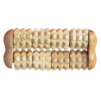 2 Raw Wooden Stress Relief Health Therapy Relax Body Relaxation Massage Wood Roller Hand Held Massager