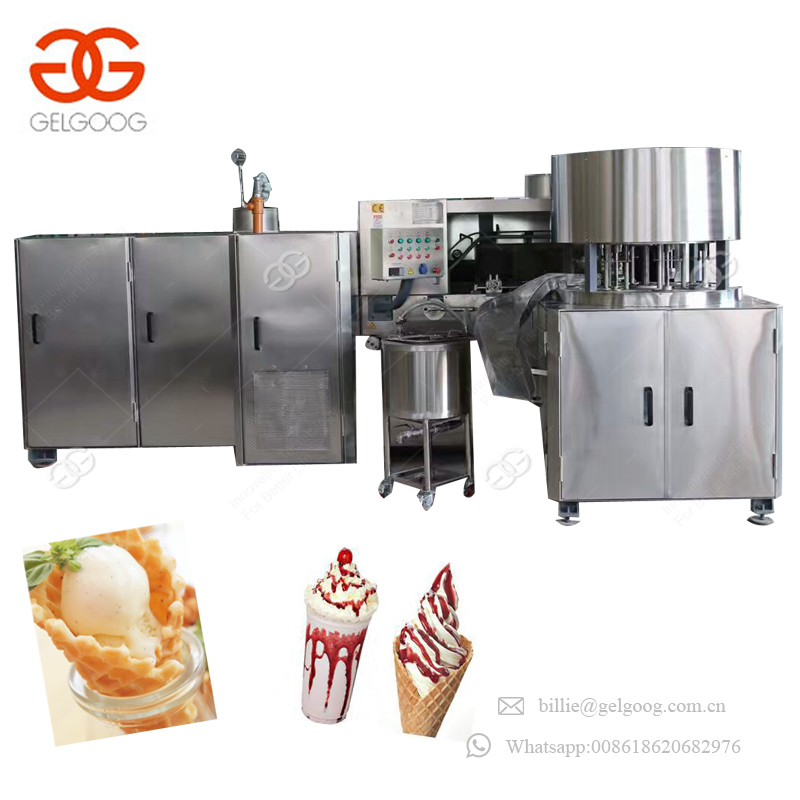 Extra-Long Type Of Ice Cream Cone Baking Maker Rolled Ice Cream Sugar Cone Making Machine