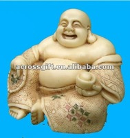 Religious happy laughing resin Buddha figures