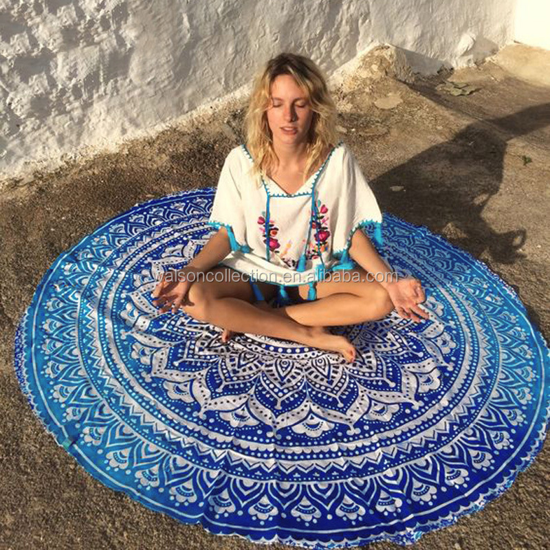 Bohemian Mandala Round Beach Tapestry Hippie Throw Yoga Mat Towel magic <strong>scarf</strong> & shawl 2016 women <strong>scarf</strong> beach cover