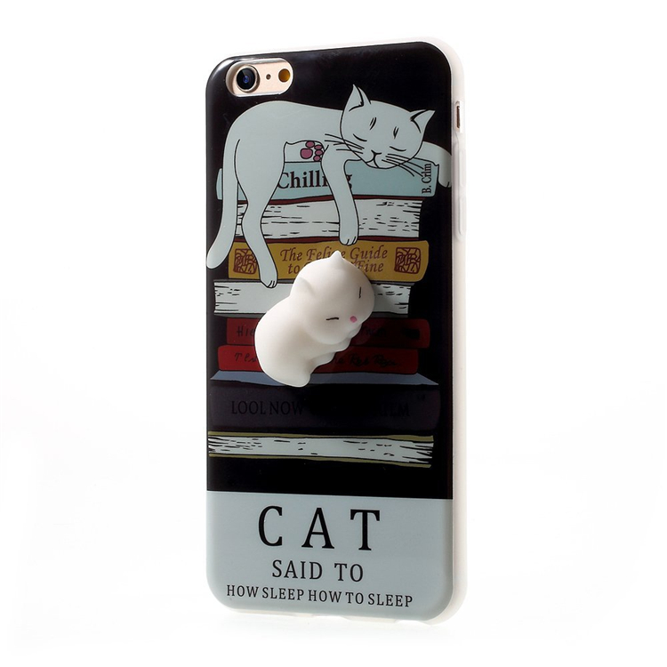 Squishy Pinch 3D Soft SiliconeCat Phone Case for iPhone 6s Plus / 6 Plus TPU New Case in 2017 3d silicon animal case