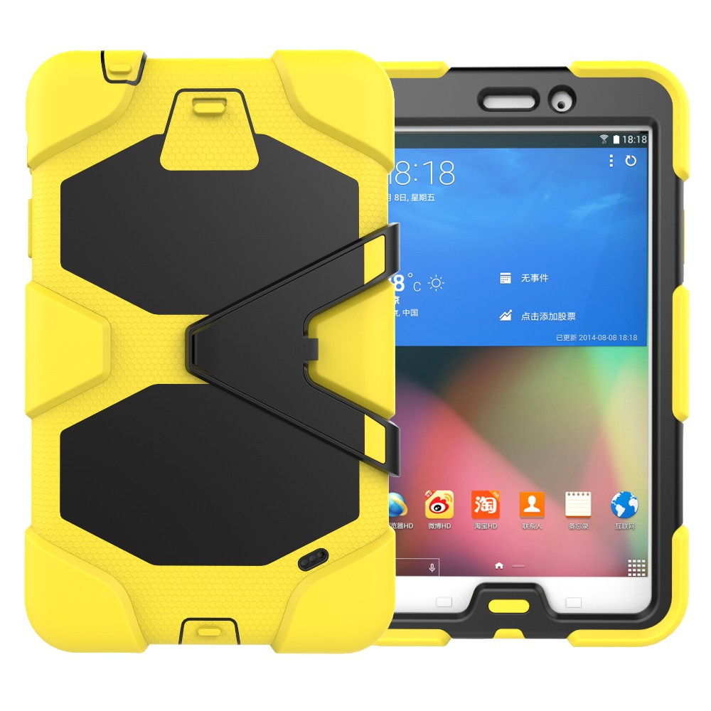 3 in 1 Shockproof Rubber PC Holder Tablet Case for Samsung GALAXY Tab 4 T330 Cover