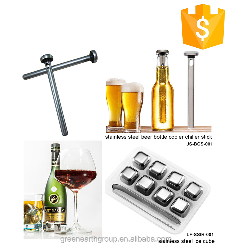 Barware FDA Standard Stainless Steel beer bottle cooler stick wine chiller stick
