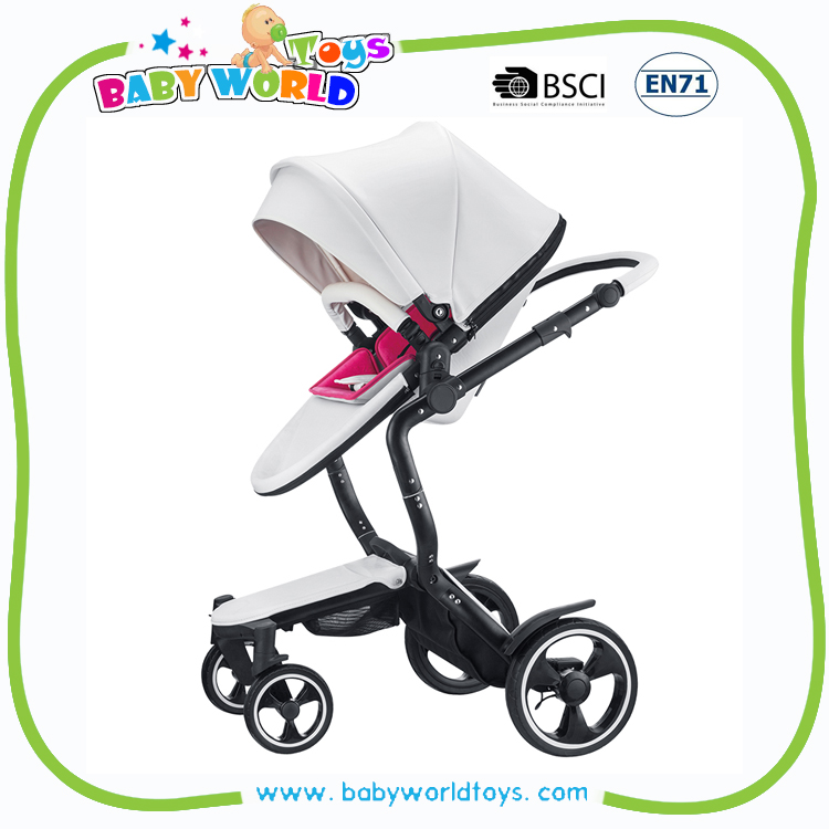 Fashion leather luxury 2 in 1 baby stroller