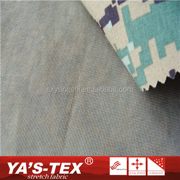 Four Way Stretch TPU Waterproof Spandex Printing Military Camouflage Fabric With High Quality